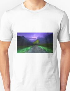 Lightning over the alps entrance T-Shirt