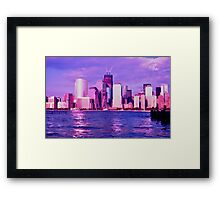 Lower Manhattan Skyline and Freedom Tower Framed Print