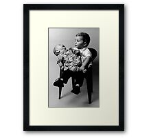 Chalk and Cheese! Framed Print