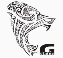 G STATUS: Tribal Gorilla (Black) One Piece - Short Sleeve