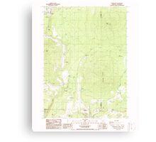 USGS Topo Map Oregon Parker Mtn 281043 1988 24000 Canvas Print