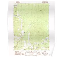 USGS Topo Map Oregon Parker Mtn 281043 1988 24000 Poster