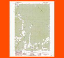 USGS Topo Map Oregon Parker Mtn 281043 1988 24000 Kids Tee