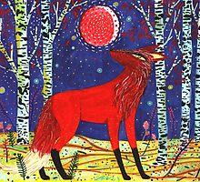 Red Moon Fox by Yetzenia Leiva