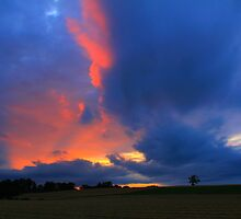 Evening Sky over Gallow Hill, County Durham by Ian Alex Blease