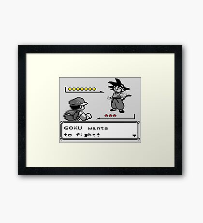 Crossover Pokemon - Dragonball Coloured balls Framed Print