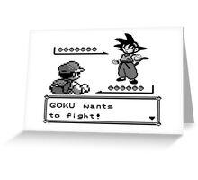 Crossover Pokemon - Dragonball Greeting Card