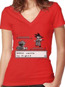 Crossover Pokemon - Dragonball Women's Fitted V-Neck T-Shirt