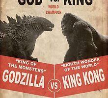 Godzilla vs King Kong by Eddie Camara