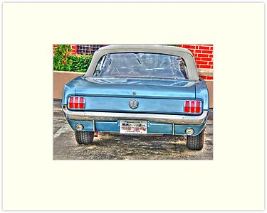 1965 Mustang-rear view by henuly1