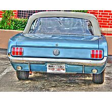 1965 Mustang-rear view Photographic Print