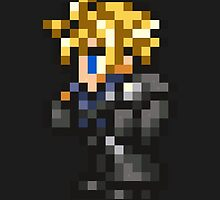 Lone Wolf Cloud sprite - FFRK - Final Fantasy VII (FF7) - Advent Children by Deezer509