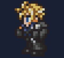 Lone Wolf Cloud sprite - FFRK - Final Fantasy VII (FF7) - Advent Children Kids Tee