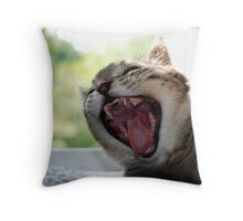 Tiny Kitten Teeth Throw Pillow