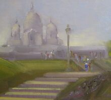 Pilgrimage to the Sacre Coeur by Tash  Luedi Art