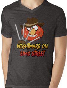 Nightmare on elmo street. Horror. Mens V-Neck T-Shirt