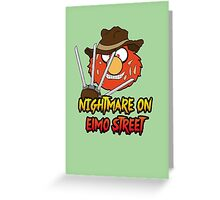 Nightmare on elmo street. Horror. Greeting Card