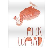 Awkward Orange Auk  Poster