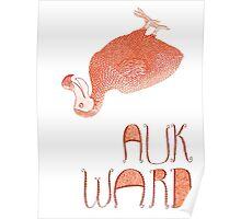 Awkward Orange Auk  Poster