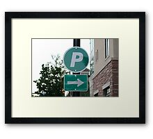 To The Right Framed Print