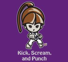 Martial Arts/Karate Girl - Front punch (gray font) by fujiapple