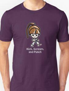 Martial Arts/Karate Girl - Front punch (gray font) Unisex T-Shirt