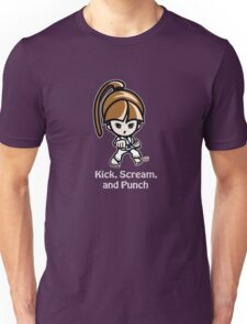 Martial Arts/Karate Girl - Front punch (gray font) Unisex T-Shirt