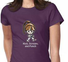 Martial Arts/Karate Girl - Front punch (gray font) Womens Fitted T-Shirt