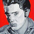 Elvis Presley Acrylic on Canvas by Sarah Horsman