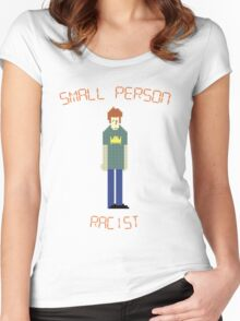 The IT Crowd – Small Person Racist Women's Fitted Scoop T-Shirt