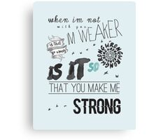 Strong - One Direction Lyrics Collage Canvas Print