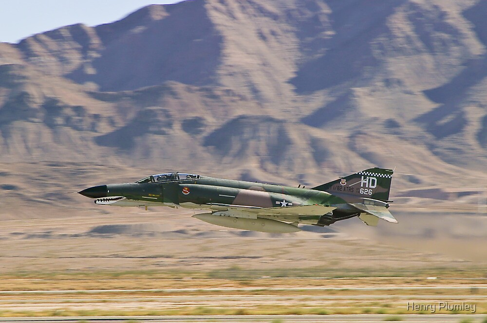 F4 Phantom  Low Pass During 2010 Aviation Nation by Henry Plumley
