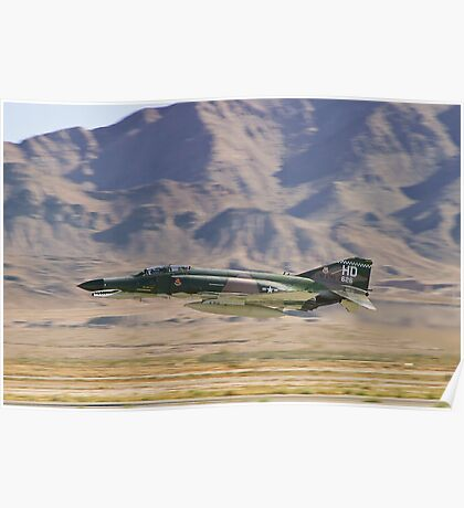 F4 Phantom  Low Pass During 2010 Aviation Nation Poster