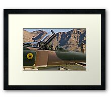 The pilot of the F-4 Phantom waves to the crowd. Framed Print