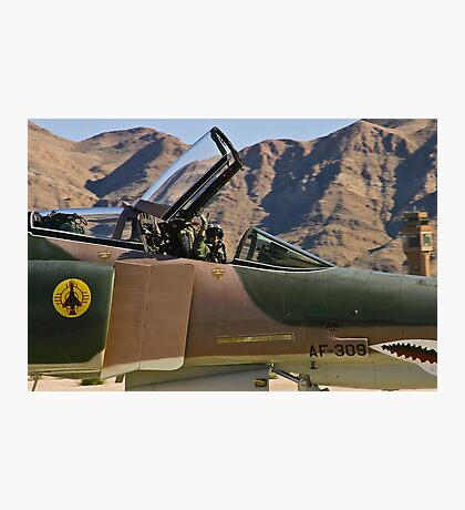 The pilot of the F-4 Phantom waves to the crowd. Photographic Print