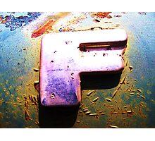 F Photographic Print