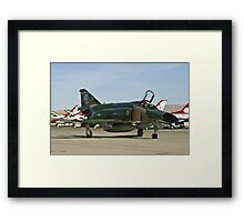 The F-4 Phantom taxiing at Nellis AFB Framed Print