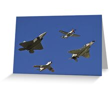 Air Combat Command Heritage Flight. Greeting Card