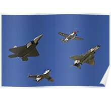 Air Combat Command Heritage Flight. Poster