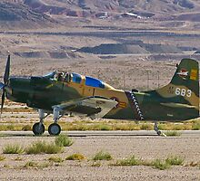 An A-1 Skyraider landing. by Henry Plumley