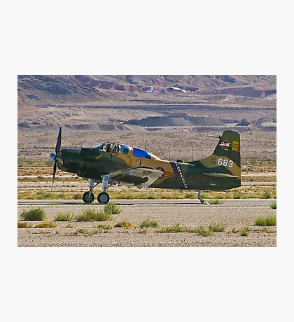 An A-1 Skyraider landing. Photographic Print