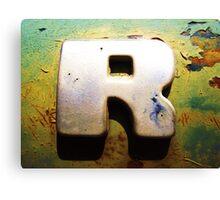 R Canvas Print
