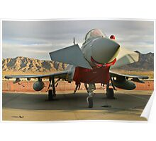 Nose Shot of a British Typhoon Poster