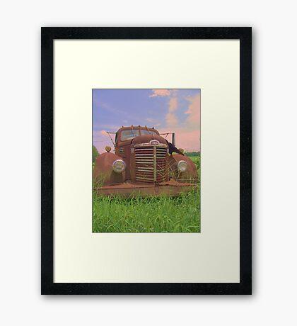 old international Framed Print