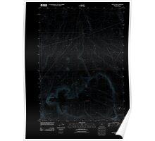 USGS Topo Map Oregon Fish Fin Rim 20110816 TM Inverted Poster