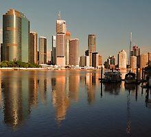 The Beautiful City Of Brisbane, Queensland, Australia. by Ralph de Zilva