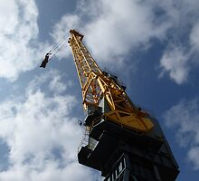 Looking up a crane by Tony Blakie