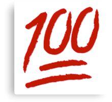 100 Emoji Logo Canvas Print