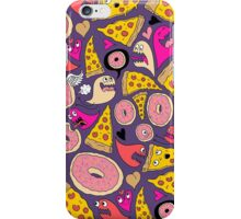 Pizza Donut Monsters iPhone Case/Skin