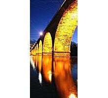 Golden walkway Photographic Print